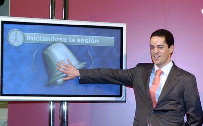 Enrique Bañuelos, en la presentación de la salida a bolsa de Astroc, en mayo de 2006.