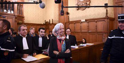 Christine Lagarde, durante una vista del juicio contra ella por el caso Tapie.