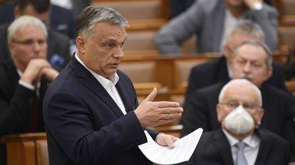 El primer ministro de Hungría, Viktor Orban, en el Parlamento, en Budapest, el pasado 23 de marzo.