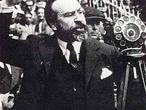 Fernando de los Ríos, durante un mitin en 1933.