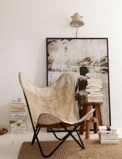 """Silla """"mariposa"""" de piel, a la venta en Kulunka Deco por 239,99 euros"""