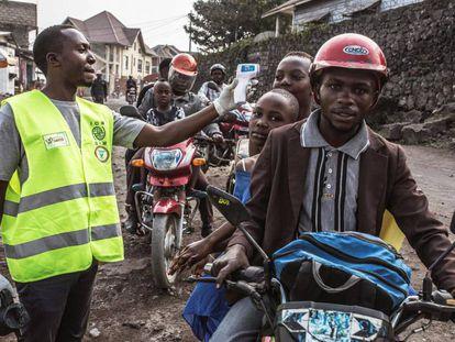 Control sanitario en la ciudad de Goma, la pasada semana.