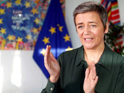 La comisaria de Competencia, Margrethe Vestager, el pasado 14 de enero.