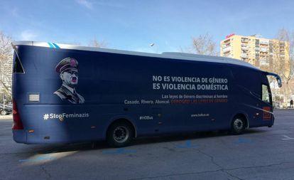 Autobús fletado por Hazte Oír para su campaña contra las leyes de violencia de género.