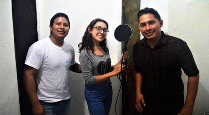 Willi Colli, Greis Mendoza y Yoni Guzmán, tres de los integrantes del programa.