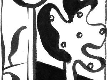 Il·lustració de la versió del 'Càntic dels càntics' de Ferrer i Comadira.