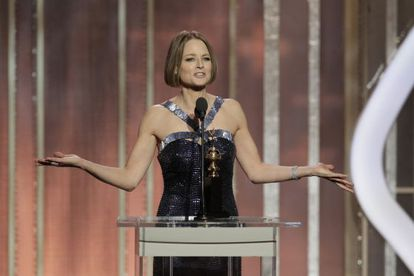 Jodie Foster, en los Globos de Oro.