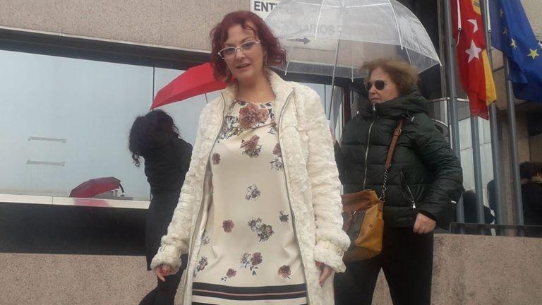 María Sevilla, tras declarar ante la Fiscalía en noviembre pasado.