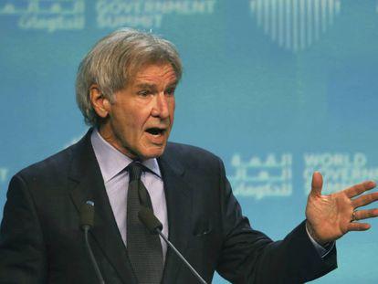 Harrison Ford, durante su conferencia en Dubái.