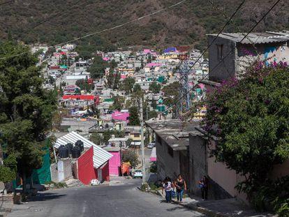Los bordos, uno de los barrios más peligrosos de Ecatepec.