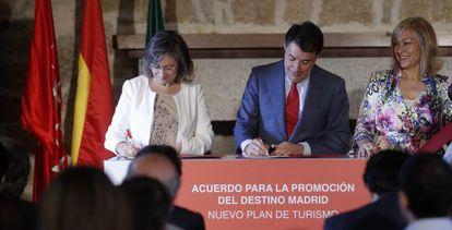 Ignacio González en la presentación del Plan de Turismo.