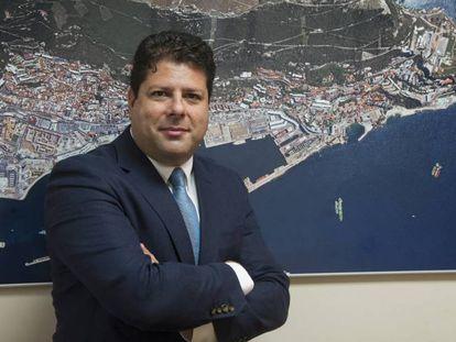 Fabián Picardo, ministro principal de Gibraltar.