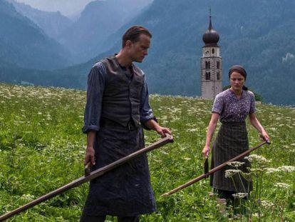 Fotograma de 'A Hidden Life', de Terrence Malick. En vídeo, Boyero analiza la película.