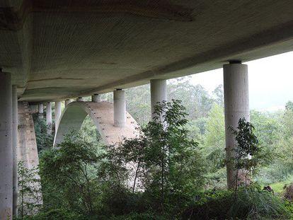 El viaducto de Cedeja, lugar del suceso.