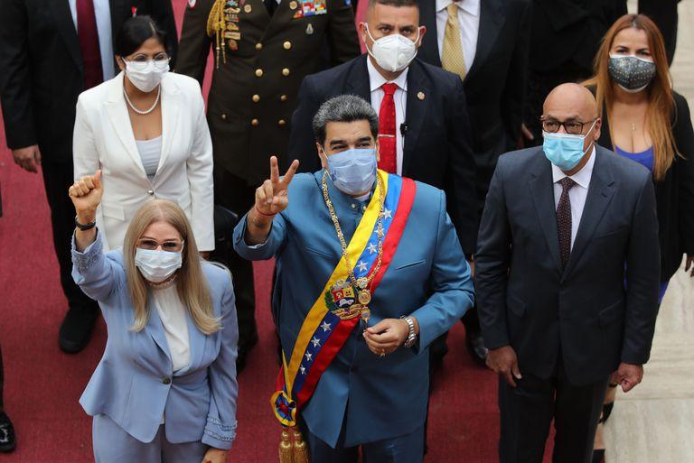 Nicolás Maduro, el pasado 12 de enero en la sede del Parlamento venezolano en Caracas.