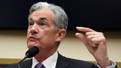 El presidente de la Fed Jerome Powel en Washington (EE UU) en julio.