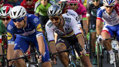 Peter Sagan en la última etapa de la Vuelta.