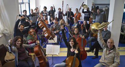 Uno de los primeros ensayos de la Orquesta Bética, en Sevilla.