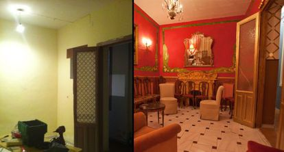 El antes y el después de La Casa de la Portera, a partir del lunes, Puraenvidia y Martret volverán a dejarla como la encontraron.