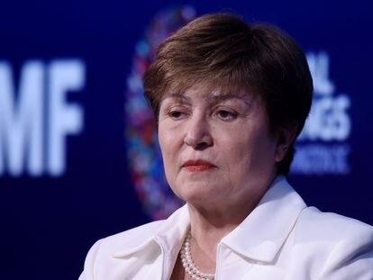 Kristalina Georgieva, en octubre de 2019 durante la reunión de otoño del FMI y el Banco Mundial en Washington.