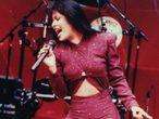 Selena Quintanilla, durante su último concierto, en 1995