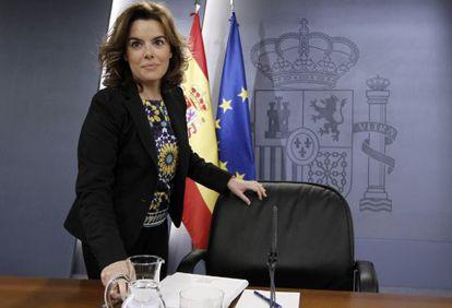 Soraya Sáenz de Santamaría, en una imagen de archivo.