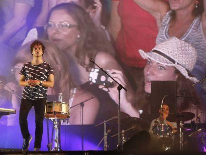 Concierto de Jamie Cullum, en la playa de Zurriola, en el festival de Jazz de San Sebastián en 2013.