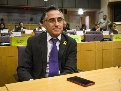 El eurodiputado Ramon Tremosa en el Parlamento Europeo.