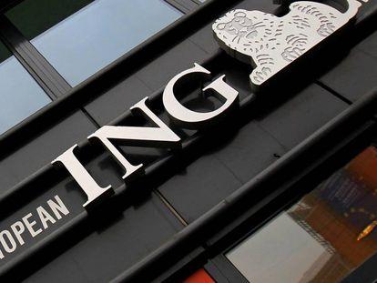 Oficina de ING en el centro de Bruselas.