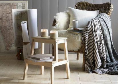 Taburete escalón Bekväm, de Ikea.