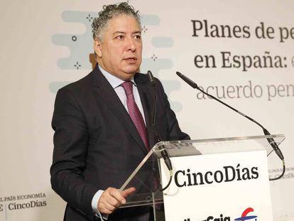 El secretario de Estado de la Seguridad Social, Tomás Burgos, en un acto organizado por Cinco Días