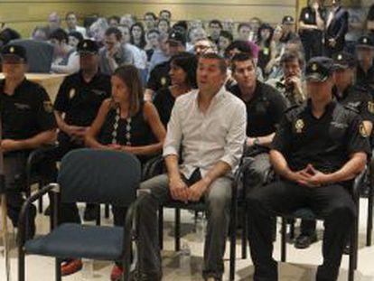 El exportavoz de Batasuna, Arnaldo Otegi, durante el juicio en la Audiencia Nacional.