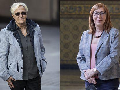 La exdiputada socialista Ángeles Álvarez (izquierda) y la catedrática Marina Sáenz. En vídeo, el debate sobre la 'ley trans'.