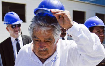 José Mujica en un acto este domingo en Montevideo.