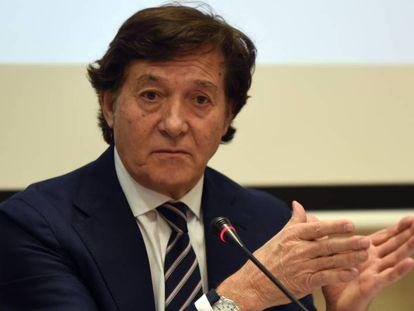 José Ramón Lete, durante la conferencia de prensa.