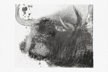 Obra de inspiración taurina de Miquel Barceló.
