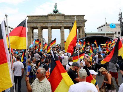 Mitin del partido ultraderechista alemán Alternativa por Alemania (AfD), en Berlín en 2018.