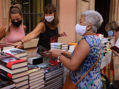 Celebración del Día del Libro, el pasado 23 de julio en Sabadell.