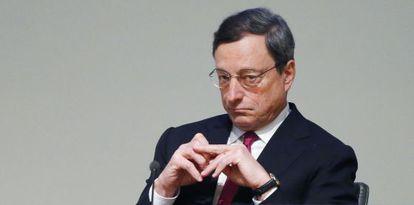 El presidente del BCE, Mario Draghi, el pasado febrero en Bruselas.