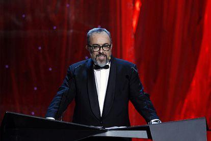 Álex de la Iglesia, durante su discurso como director de la Academia de Cine en la gala de los Goya.