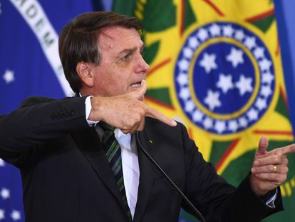 El presidente de Brasil, Jair Bolsonaro, el pasado 9 de febrero en Brasilia.