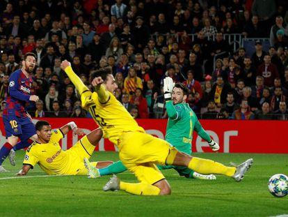 Messi marca el segundo gol del Barça ante el Borussia. En vídeo, las declaraciones de Valverde en la rueda de prensa posterior al encuentro.