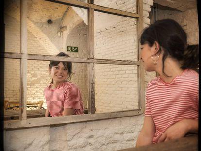 La actriz Anna Castillo, en la cafetería Maricastaña.