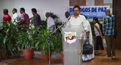El jefe negociador de las FARC, Iván Márquez, en La Habana.