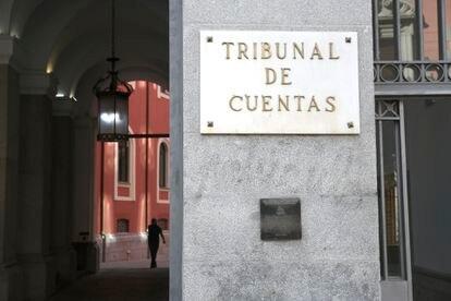 Fachada del edificio del Tribunal de Cuentas, en Madrid.