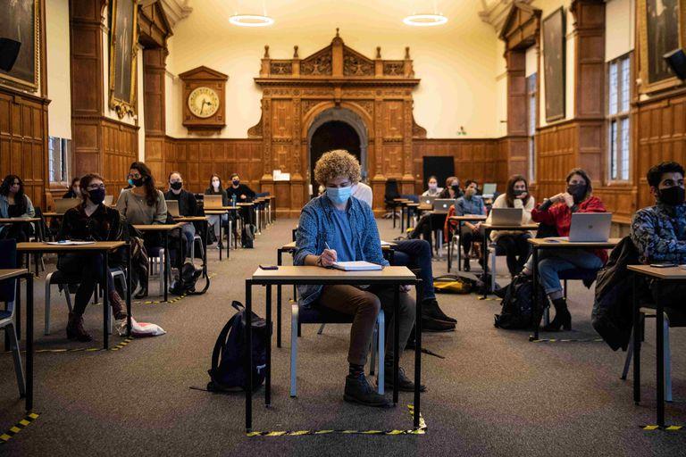 Un aula de la Universidad de Oxford, en Inglaterra, en noviembre.