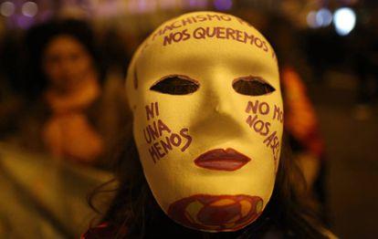 Manifestación contra la violencia machista, en marzo pasado en Madrid.