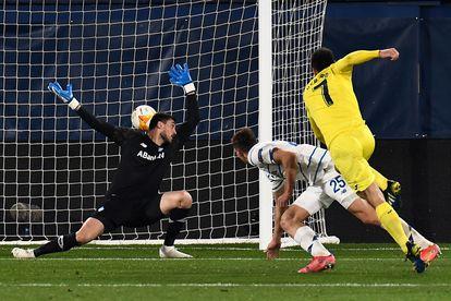 Gerard Moreno, en la acción del 2-0.