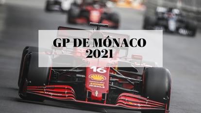 El piloto de Ferrari Charles Leclerc en el circuito de Montecarlo, durante el Gran Premio de Mónaco de Fórmula 1 2021.