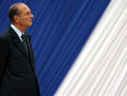 El expresidente francés Jacques Chirac, en una ceremonia en París, en 2006.